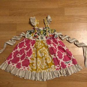 """Cheeky Plum"" Dress Size 2T"